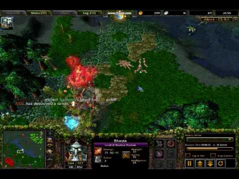 DOTA Warcraft III Frozen Throne Clinkz Amp Rhasta BEST VIDEO