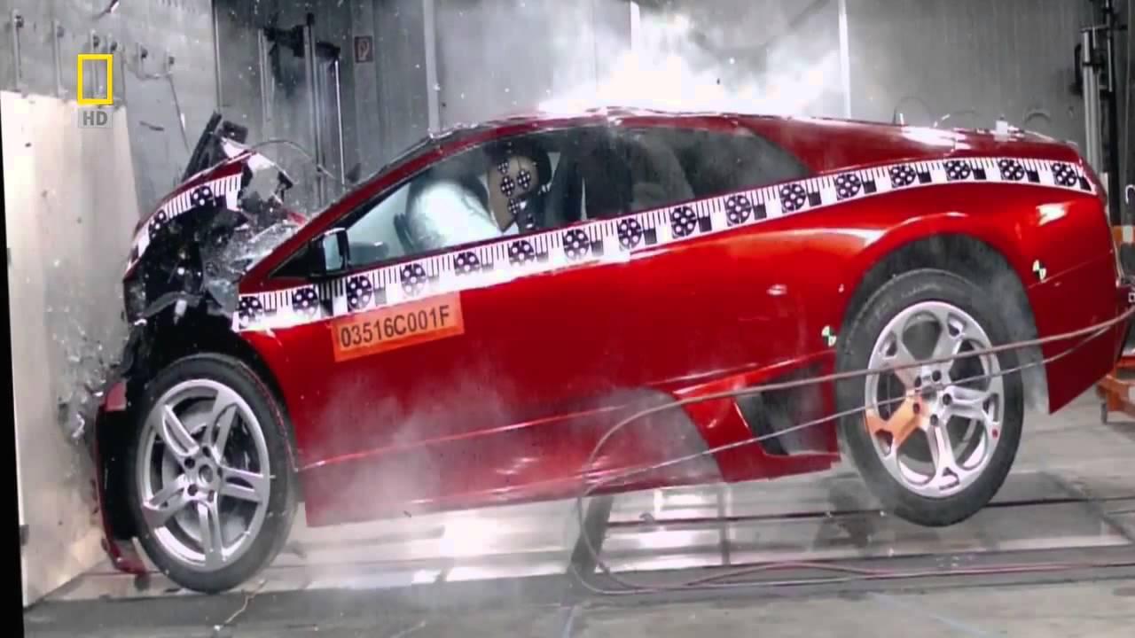 Lamborghini Murcielago Crash Test Hd Youtube