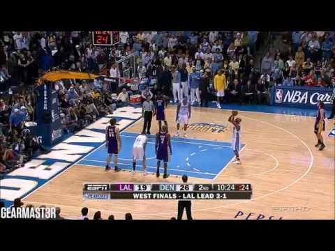 Chauncey Billups, Kenyon Martin, and Nene Full Highlights vs Lakers (2009 WCF GM4) (2009.05.18)