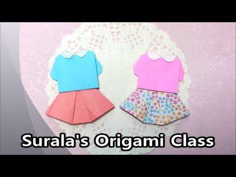 Origami - Blouse & Skirt / 종이접기 - 블라우스와 치마