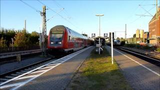 "DSB ICE-TD on ""Vogelflugtlinie"", and Push Pull train to Hamburg at Bad Oldesloh, 29 september 2011"