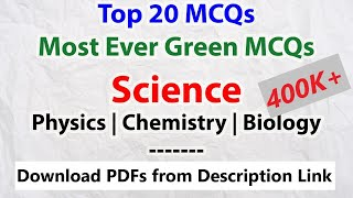 [Must Watch] Top 20 MCQs (Science) | Most Asked Questions | Physics, Chemistry, Biology | SSC CGL