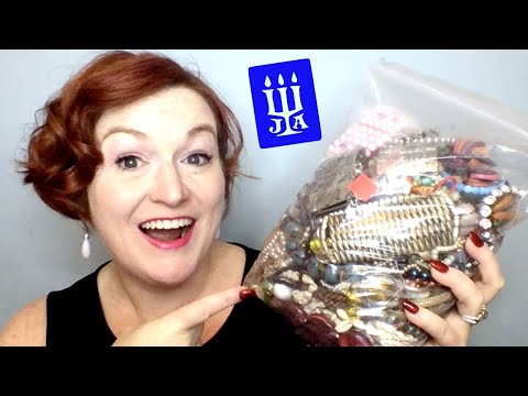 Goodwill Jewelry Jar Unboxing - James Avery - Mystery Jewelry Bag Unbagging - Jewelry Haul 2018