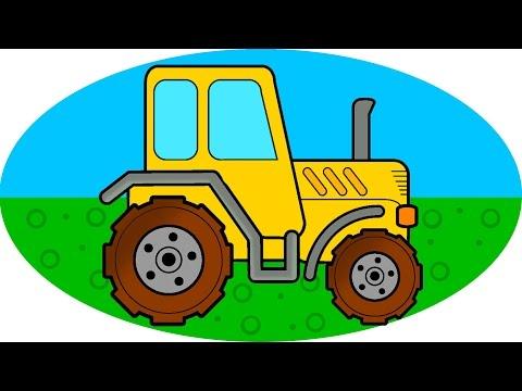 МАШИНКИ от Рыжего Ёжика - ТРАКТОР СПЕШИТ НА ПОМОЩЬ. Собираем трактор из разных Деталей