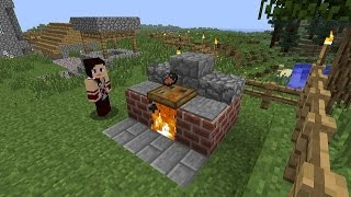 Minecraft: how to make a bbq - (minecraft bbq)
