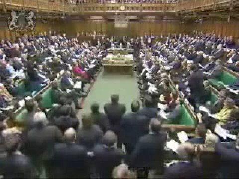 Two British MP's both with a connection with Rotherham lock horns at Prime Ministers Question Time at the Houses Of Parliament London.