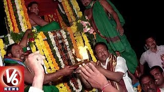 Minister Laxma Reddy in Participates In Abhayanjaneya Swamy Rathotsavam | Nagarkurnool