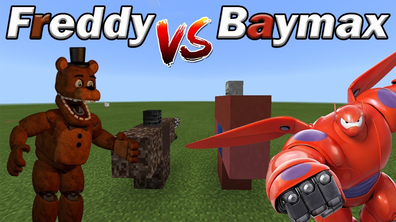 FREDDY vs BAYMAX | Minecraft PE