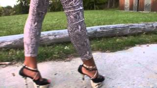 PRESENTING MY SNAKE HEELS AND LEGGINGS BY TAMIA