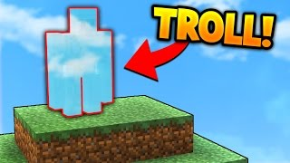BEST MINECRAFT BED WARS INVISIBLE TROLL!