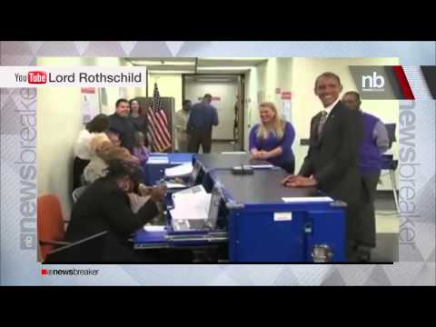 RAW VIDEO: President Obama Asked For ID As He Votes Early