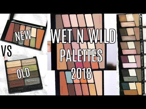 NEW WET N WILD EYESHADOW PALETTES 2018    Swatches. Comparison & Review