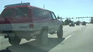 LIFTED UP 4 WD CHEVY SUBARBAN