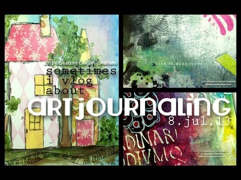sometimes i vlog about art journaling on 8.jul.13