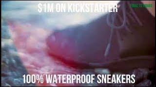 Kickstarter $1m Club · Waterproof Knit Sneakers · For Men & Women · https://kck.st/2RSv0ov