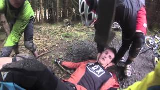Lewis Fletcher Crash at Bike Park Wales on Melted