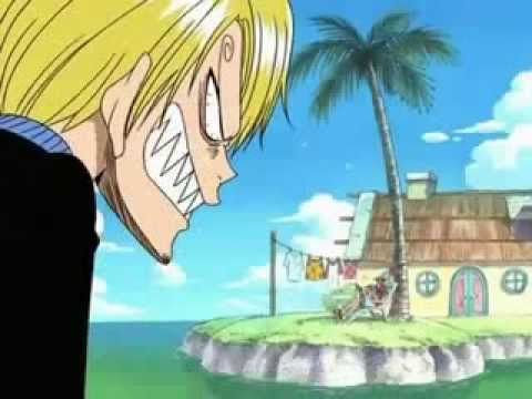 one piece funny moment (video 1)- sanji and zoro get so angry