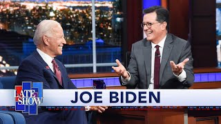 "Colbert Questions Biden About Being a ""Gaffe Machine"""