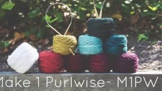 Knitting Tutorial for beginners: Make One Purlwise Increase - M1PW