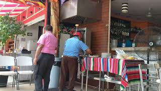 Mexican street tacos in Playa del Carmen