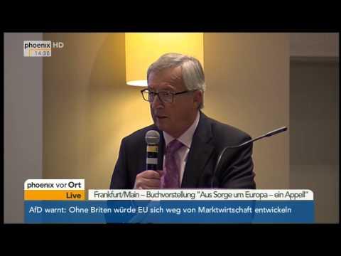 Buchvorstellung: Laudatio von Jean-Claude Juncker zu Helmut Kohl am 03.11.2014