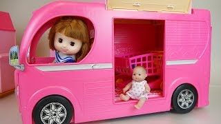 Baby doll bus and car toys baby Doli camping play