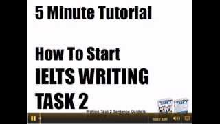 IELTS Writing Task 2 5 min Tutorial part 1