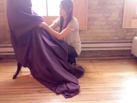 How to bustle a gown