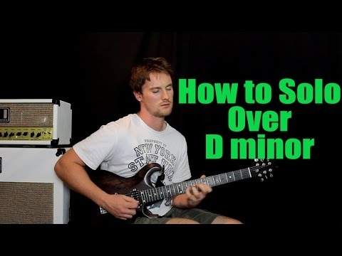 How To Solo Over: D minor (Scales, Chord Tones with Backing Loop)
