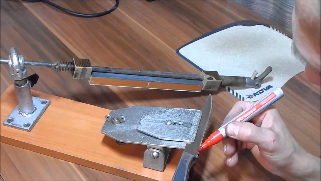 Как сделать приспособление для заточки ножа своими  734