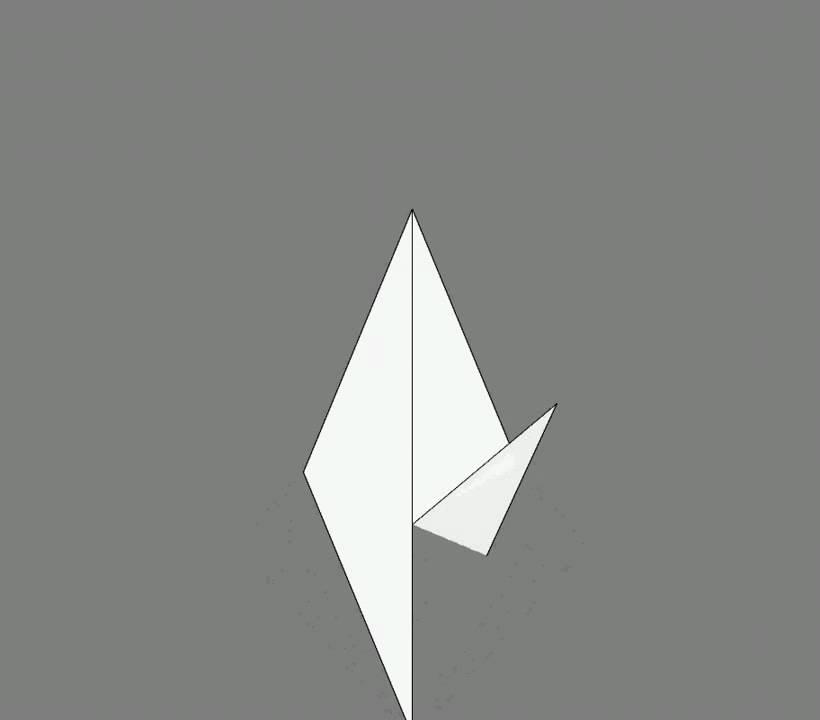 Оригами схема сборки ворона