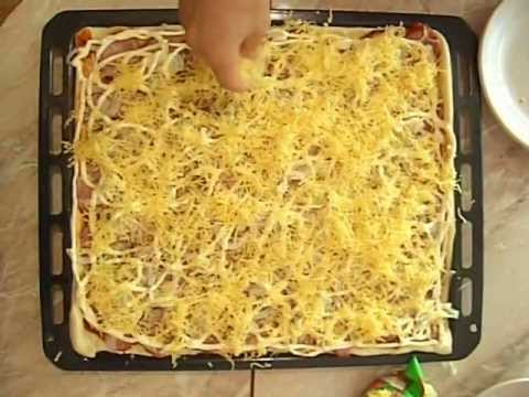 Пицца рецепт в домашних условиях быстро видео