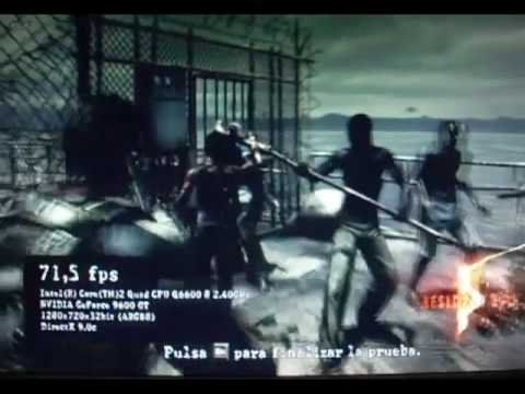 Resident Evil 5 Prueba de rendimiento (Benchmark) Nvidia 9600GT