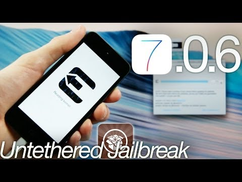 NEW Jailbreak 7.0.6 Untethered iOS iPhone 5S.5C.4S.4.iPad Mini 2.Air & iPod Touch 5 Evasi0n 7