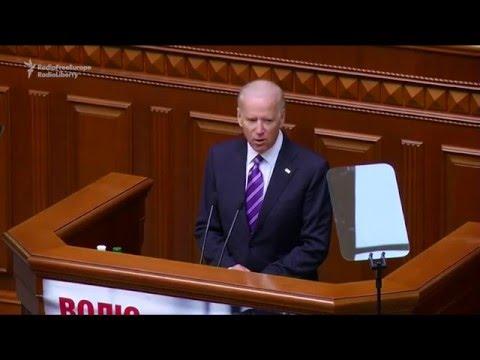 Joe Biden la Kiev: Rusia și corupția amenință Ucraina