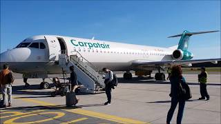 Carpatair op. for Adria Airways   | Fokker 100 | Skopje - Ljubljana | *full flight*