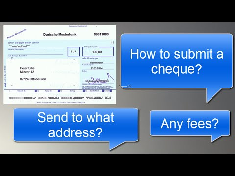 Submit cheque at DKB Bank