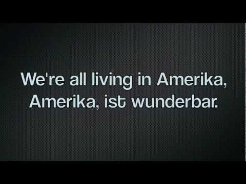 Rammstein - Amerika. lyrics in Deutsch, HD.