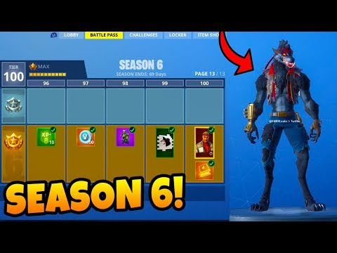 Fortnite Season 6 Tier 100 Battle Pass Skins New Map Walkthrough