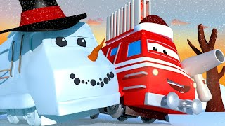 Xe lửa Troy - Xe Lửa Máy Sưởi Troy chiến đấu Quái Vật Tuyết - Thành phố xe 🚉 phim hoạt hình về