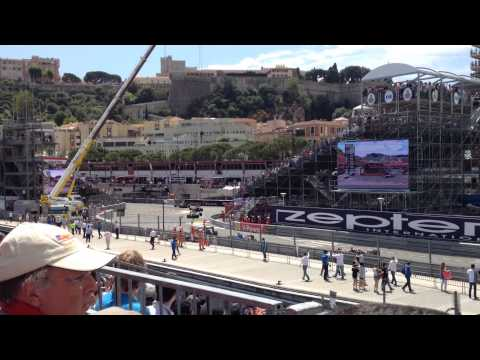 Monaco Grand Prix 2015 - F1 lap 1 - view from Tribune O