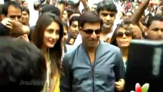 Heroine - Kareena, Madhur Launches Music Of 'Heroine' At Siddhivinayak Temple.