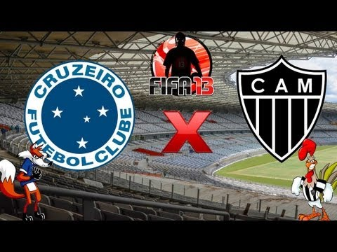 Fifa 13 - Clssico - Cruzeiro x Atltico Mineiro - Melhores Momentos - 03-02-13