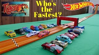 Hot Wheels vs Tiger Wheels drag tournament race ( Who's the fastest brand?)