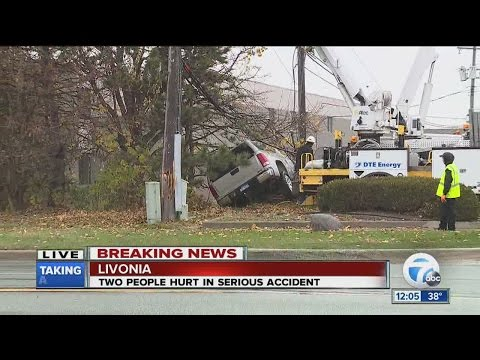 People hurt in Livonia accident