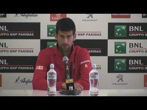 Rome champion Novak Djokovic recorded his 34th match win : Post match interview