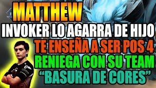 MATTHEW ES AGARRADO DE HIJO POR INVOKER | TE ENSEÑA A SER ROAMING | DOTA 2