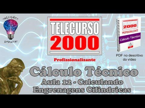 Telecurso 2000 - Calculo Tecnico - 12 Calculando engrenagens cilindricas.avi