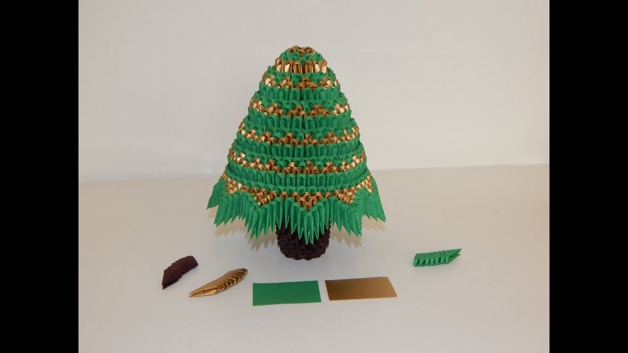 how to make 3d origami christmas tree model 3 part 1 youtube