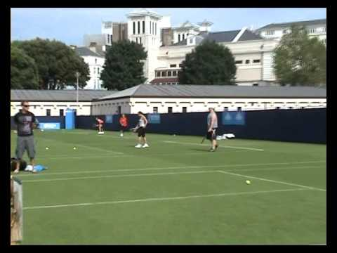 Aleksandra Wozniak practice in Eastbourne 2009 1 Video